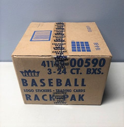 1989 FLEER BASEBALL 3 BOX FACTORY SEALED RACK CASE