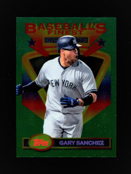 "2020 GARY SANCHEZ TOPPS FINEST FLASHBACKS ""JUMBO"" YANKEES"