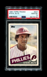 1985 STEVE JELTZ TOPPS TRADED #62T PHILLIES PSA 10