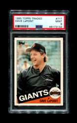 1985 DAVE LAPOINT TOPPS TRADED #71T GIANTS PSA 9