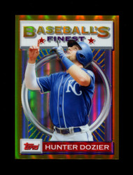 2020 HUNTER DOZIER FINEST FLASHBACKS #27 GOLD REFRACTOR #/50 ROYALS *R1920