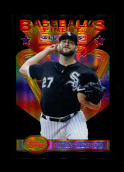 2020 LUCAS GIOLITO FINEST FLASHBACKS #111 BLACK REFRACTOR #/25 WHITE SOX *R1809
