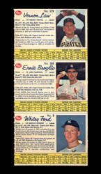 1962 POST CANADIAN UNCUT 3 CARD PANEL LAW/BROGLIO/FORD