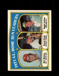 1972 A.L. HOME RUN LEADERS OPC #90 O-PEE-CHEE *5387