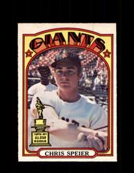 1972 CHRIS SPEIER OPC #165 O-PEE-CHEE GIANTS *4610