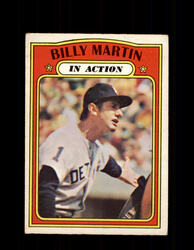1972 BILLY MARTIN OPC #34 O-PEE-CHEE IN ACTION *5832