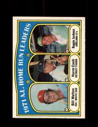 1972 A.L. HOME RUN LEADERS OPC #90 O-PEE-CHEE *7304