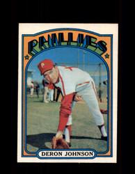 1972 DERON JOHNSON OPC #167 O-PEE-CHEE PHILLIES *R2112