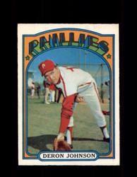 1972 DERON JOHNSON OPC #167 O-PEE-CHEE PHILLIES *R2126