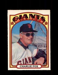 1972 CHARLIE FOX OPC #129 O-PEE-CHEE GIANTS *R1837