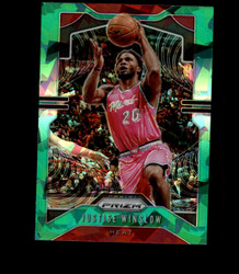 2019 JUSTISE WINSLOW PRIZM #230 CRACKED GREEN ICE HEAT *1433