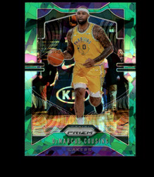 2019 DEMARCUS COUSINS PRIZM #103 CRACKED GREEN ICE LAKERS *8383