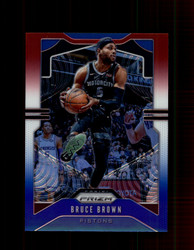 2019 BRUCE BROWN PRIZM #97 RED WHITE BLUE PISTONS *2648