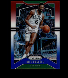 2019 BILL RUSSELL PRIZM #21 RED WHITE BLUE CELTICS *3537