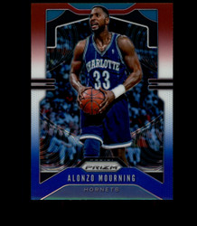 2019 ALONZO MOURNING PRIZM #27 RED WHITE BLUE HORNETS *7526