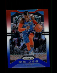 2019 DENNIS SCHRODER PRIZM #186 RED WHITE BLUE THUNDER *5917