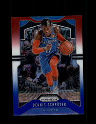 2019 DENNIS SCHRODER PRIZM #186 RED WHITE BLUE THUNDER *2799