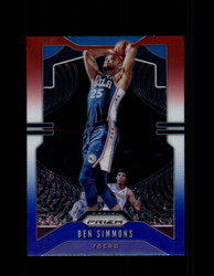 2019 BEN SIMMONS PRIZM #198 RED WHITE BLUE 76ERS *2352