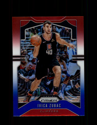 2019 IVICA ZUBAC PRIZM #220 RED WHITE BLUE CLIPPERS *R1567