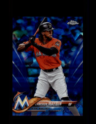 2018 CAMERON MAYBIN TOPPS SAPPHIRE #641 MARLINS *3625