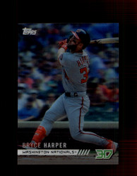 2018 BRYCE HARPER TOPPS 3D #M-13 NATIONALS *3033