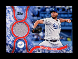 2018 CLAYTON KERSHAW TOPPS HOLIDAY GU RELIC DODGERS *3046