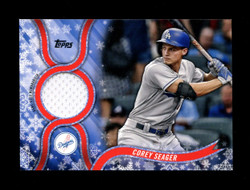 2018 COREY SEAGER TOPPS HOLIDAY GU RELIC DODGERS *5945