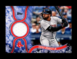 2018 JACKIE BRADLEY JR. TOPPS HOLIDAY GU RELIC RED SOX *R2587