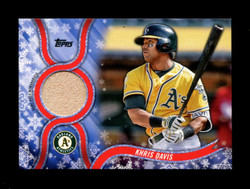 2018 KHRIS DAVIS TOPPS HOLIDAY GU RELIC ATHLETICS *2276