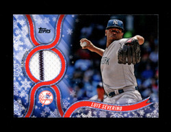 2018 LUIS SEVERINO TOPPS HOLIDAY GU RELIC YANKEES *1912