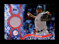 2018 LUIS SEVERINO TOPPS HOLIDAY GU RELIC YANKEES *R1845