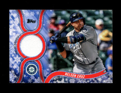 2018 NELSON CRUZ TOPPS HOLIDAY GU RELIC MARINERS *R1959