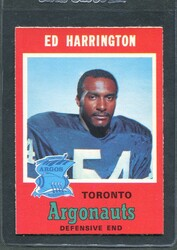 1971 ED HARRINGTON OPC CFL #4 O PEE CHEE TORONTO #2883