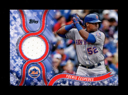2018 YOENIS CESPEDES TOPPS HOLIDAY GU RELIC METS *6078