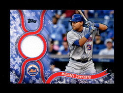 2018 MICHAEL CONFORTO TOPPS HOLIDAY GU RELIC METS *5487