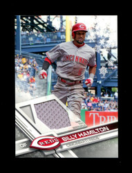 2017 BILLY HAMILTON TOPPS HOLIDAY GU RELIC REDS *6604