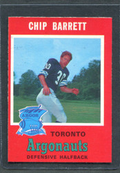 1971 CHIP BARRETT OPC CFL #6 O PEE CHEE TORONTO #2881