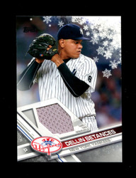 2017 DELLIN BETANCES TOPPS HOLIDAY GU RELIC YANKEES *R1060