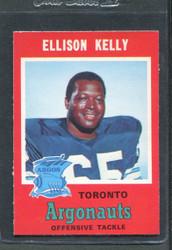 1971 ELLISON KELLY OPC CFL #8 O PEE CHEE TORONTO #2879