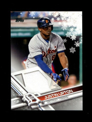 2017 JUSTIN UPTON TOPPS HOLIDAY GU RELIC TIGERS *R1969