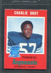 1971 CHARLIE BRAY OPC CFL #9 O PEE CHEE TORONTO #2878