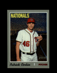 2019 PATRICK CORBIN TOPPS HERITAGE #530 CHROME #/999 NATIONALS *R2688