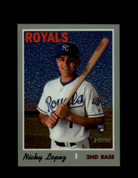 2019 NICKY LOPEZ TOPPS HERITAGE #542 CHROME #/999 ROYALS *R2685