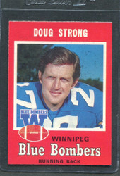 1971 DOUG STRONG OPC CFL #17 O PEE CHEE WINNIPEG #2875