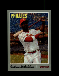 2019 ANDREW MCCUTCHEN TOPPS HERITAGE #702 CHROME #/999 PHILLIES *R2676