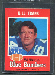 1971 BILL FRANK OPC CFL #19 O PEE CHEE WINNIPEG #2872