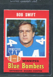 1971 BOB SWIFT OPC CFL #23 O PEE CHEE WINNIPEG #2868