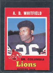 1971 A.D. WHITFIELD OPC CFL #35 O PEE CHEE COLUMBIA #2859