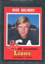 1971 DAVE GOLINSKY OPC CFL #39 O PEE CHEE COLUMBIA #2857