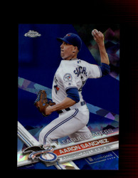 2017 AARON SANCHEZ TOPPS CHROME SAPPHIRE #82 AMERICAN LEAGUE *R2847